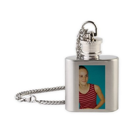 Happy girl - Flask Necklace