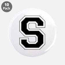 """Collegiate Monogram S 3.5"""" Button (10 pack)"""