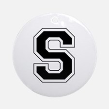 Collegiate Monogram S Ornament (Round)