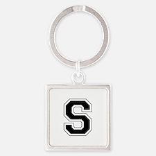 Collegiate Monogram S Square Keychain