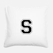 Collegiate Monogram S Square Canvas Pillow