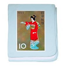 Vintage 1965 Japan Geisha Painting Postage Stamp b