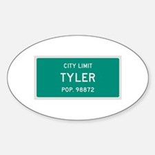 Tyler, Texas City Limits Decal