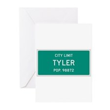 Tyler, Texas City Limits Greeting Cards (Pk of 10)