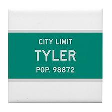 Tyler, Texas City Limits Tile Coaster