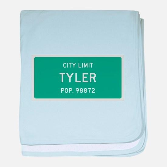 Tyler, Texas City Limits baby blanket