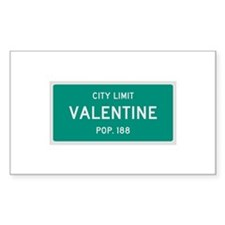 Valentine, Texas City Limits Decal
