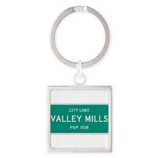 Valley Mills, Texas City Limits Square Keychain