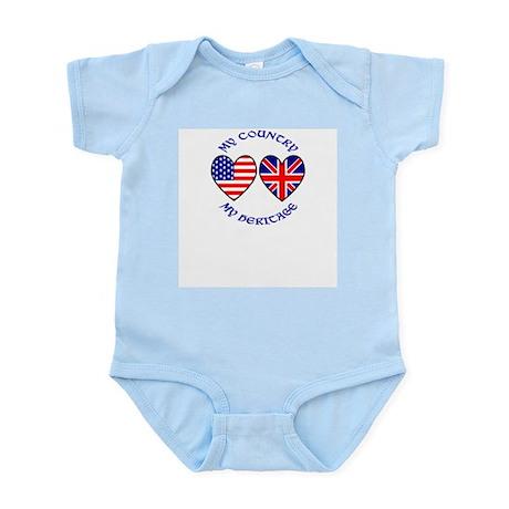 USA / UK Country Heritage Infant Bodysuit