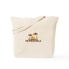 Pensacola Beach - Palm Trees Design. Tote Bag