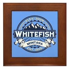 Whitefish Logo Blue Framed Tile
