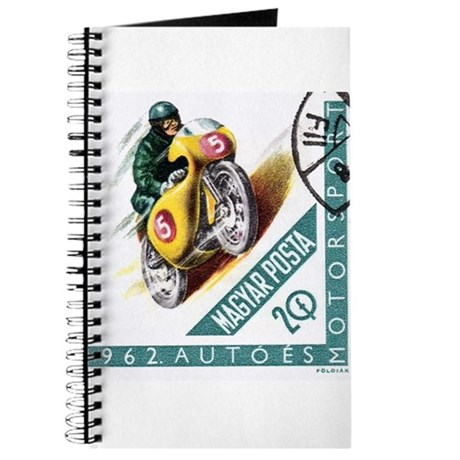 1962 Hungary Racing Motorcycle Postage Stamp Journ