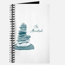 Be Mindful Cairn Rocks Journal