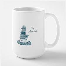Be Mindful Cairn Rocks Mug