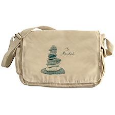 Be Mindful Cairn Rocks Messenger Bag