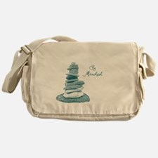 Be Mindful Cairn Rocks Messenger Bag