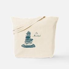 Be Mindful Cairn Rocks Tote Bag