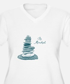 Be Mindful Cairn Rocks Plus Size T-Shirt