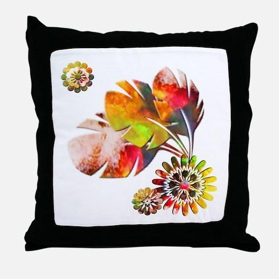 Painted Natural Throw Pillow