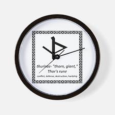 Thurisaz Wall Clock