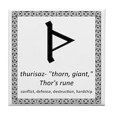 Thurisaz Tile Coaster