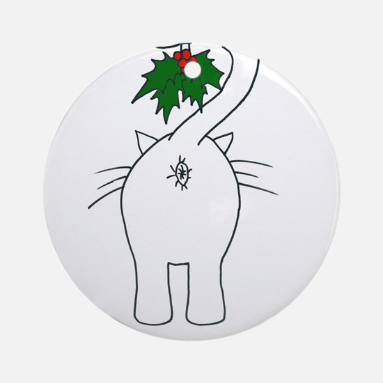 Season's Greetings From Our Cat Ornament (Round)