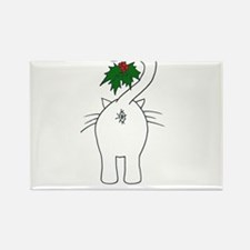Season's Greetings From Our Cat Rectangle Magnet (