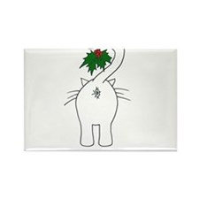 Season's Greetings From Our Cat Rectangle Magnet