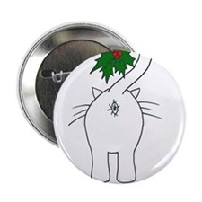 "Season's Greetings From Our Cat 2.25"" Button (10 p"