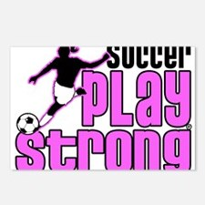 Play Strong Girls Soccer Postcards (Package of 8)