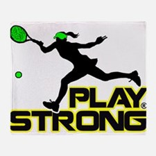 Play Strong Tennis Throw Blanket