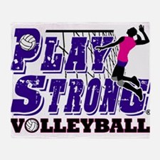 GirlsVolleyBallSlamTee Throw Blanket