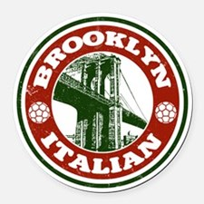 Brooklyn New York Italian Round Car Magnet