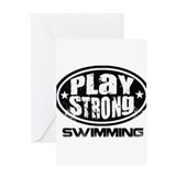 Swim coach card Greeting Cards