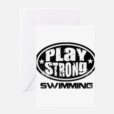Play Strong Swimming Greeting Card