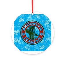 Brooklyn Italian American Xmas Ornament (Round)