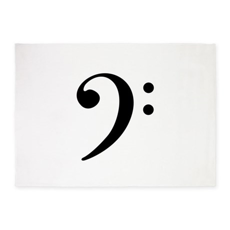 Bass Clef 5'x7'Area Rug