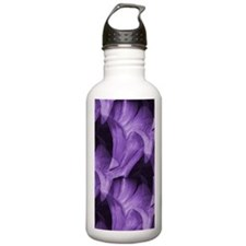 Purple Abstract Lily Water Bottle