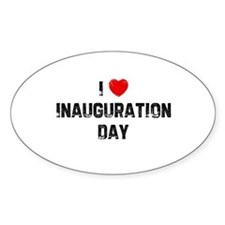 I * Inauguration Day Oval Decal