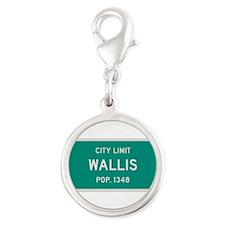 Wallis, Texas City Limits Silver Round Charm