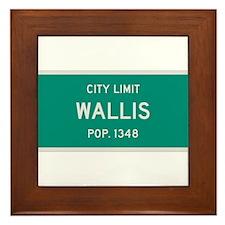 Wallis, Texas City Limits Framed Tile