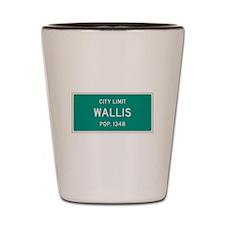 Wallis, Texas City Limits Shot Glass