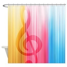 Hidden Treble Clef Shower Curtain