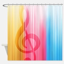 Hidden Treble Clef Shower Curtain