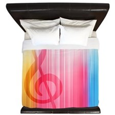 Hidden Treble Clef King Duvet