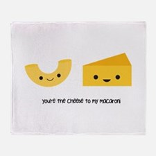 Macaroni and Cheese Throw Blanket