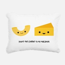 Macaroni and Cheese Rectangular Canvas Pillow