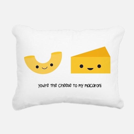 Macaroni and Cheese Rectangular Canvas Pillow