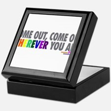Come Out Come Out - Gay Pride Keepsake Box