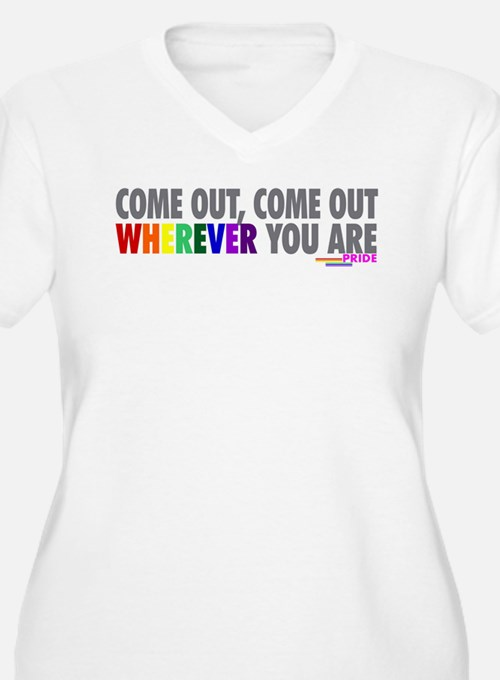 Come Out Come Out - Gay Pride Plus Size T-Shirt